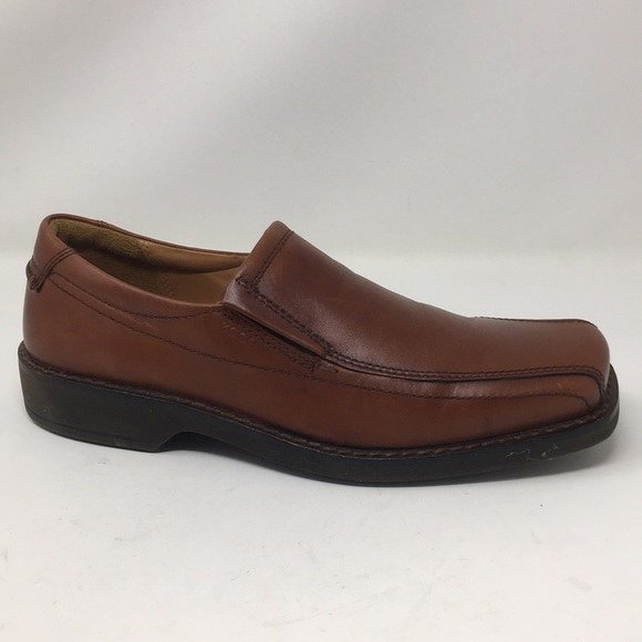 Ecco Shoes Slip On Loafers Brown Size 44